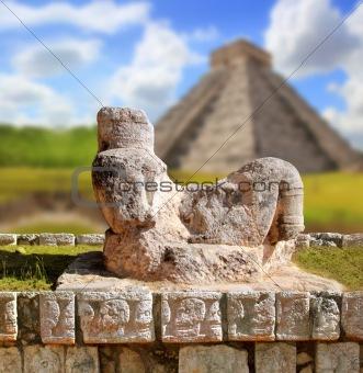 Chac Mool Chichen Itza figure Mexico Yucatan