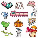 cartoon playground icon