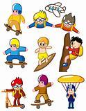 cartoon extreme sport icon