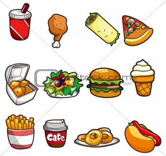 cartoon fast food icon