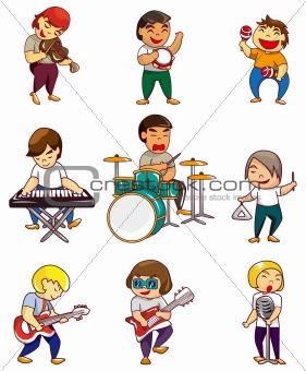 cartoon rock band icon