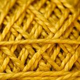 Yellow Cord ball closeup.