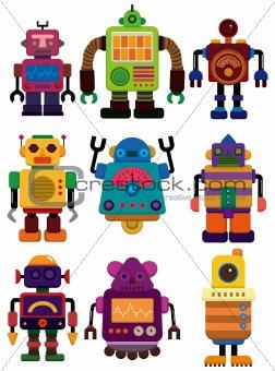 cartoon color robot icon