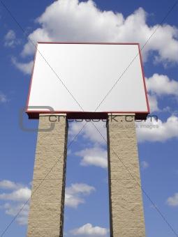 Blank advertising store signpost