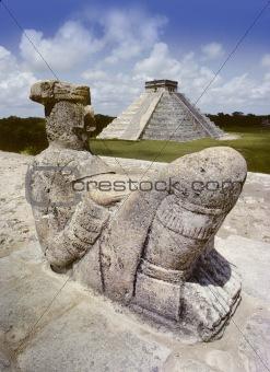 Chak Mul statue
