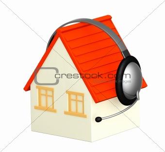 House with headphone