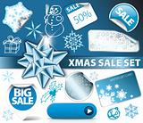 Set of Christmas discount elements