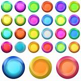 Icons buttons, set