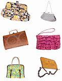 Set of 6 Ladies Purses Handbags