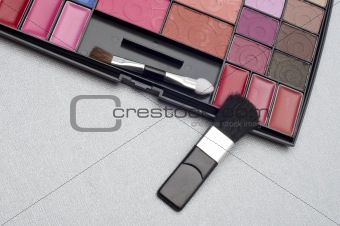 Close Up of Cosmetics Collection