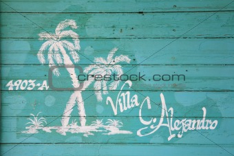 Painted house name Cuba
