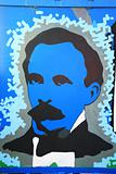 Painted picture of Jose Marti