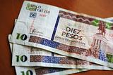 Ten Convertible Cuban Peso Notes