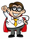 Cartoon Superhero office nerd
