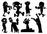 Collection of silhouette halloween characters