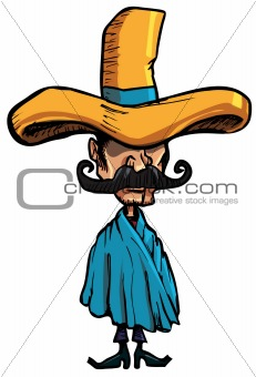 Cartoon Mexican isolated one white