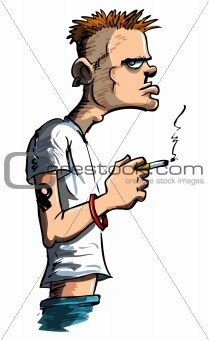 Teenager with a cigarette