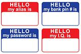 Name tags revealing personal information