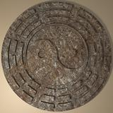 Ancient Stone YinYang sign 3D