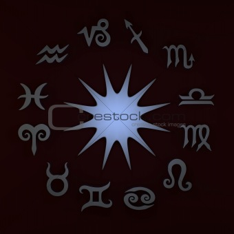 3D Star and Zodiac Signs