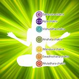 Woman in lotus position. EPS 8