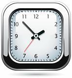 vector silver clock