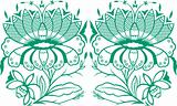 stylish flower pattern emblem design