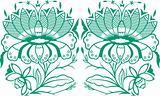 stylish flower pattern emblem design
