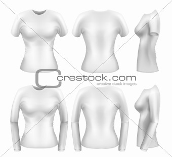 White womens t-shirt templates