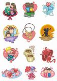 cartoon love icon