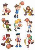 cartoon basketball icon