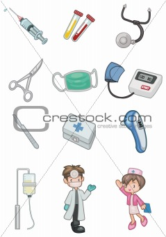 cartoon hospital icon
