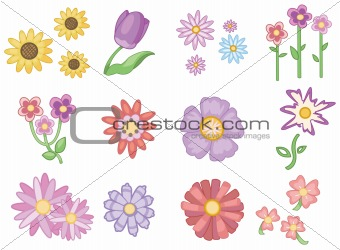cartoon flower icon