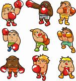 cartoon boxer icon