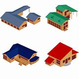 House isometric icons