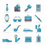 man Accessories icons and objects