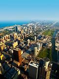 Chicago Near South Side Aerial View