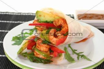 King Prawn - Avocado Wrap