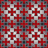 Medieval crosses seamless pattern.