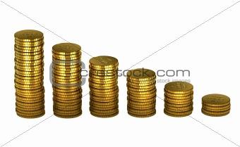 3d gold money