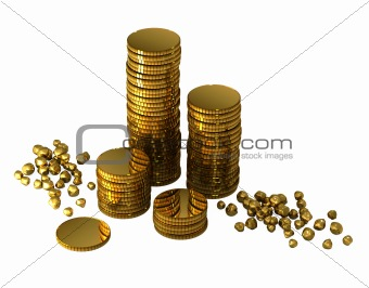 3d gold money