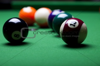 Close up shot of pool ball