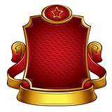 USSR retro style emblem.