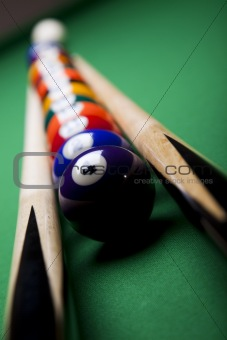 Billiard balls, pool background