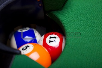 Billiard ball close up