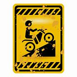 Motor bike trail sign