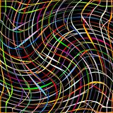 fresh colored twirl stripes on black background