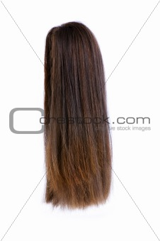 Hair wig isolated on the white