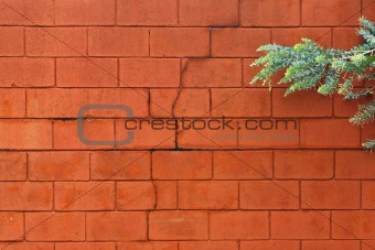Painted cinder block wall