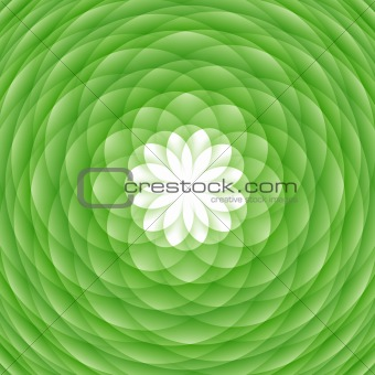 Abstract green ornament